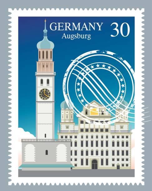 Deutschland-Briefmarke – Vektorgrafik