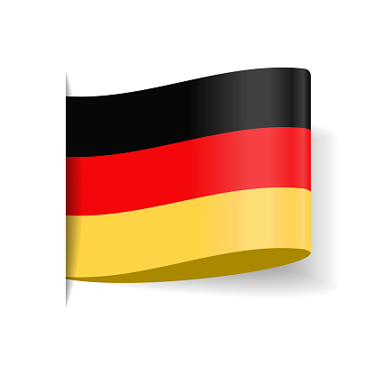 Germany - Tag Label Flag Vector Flat Icon
