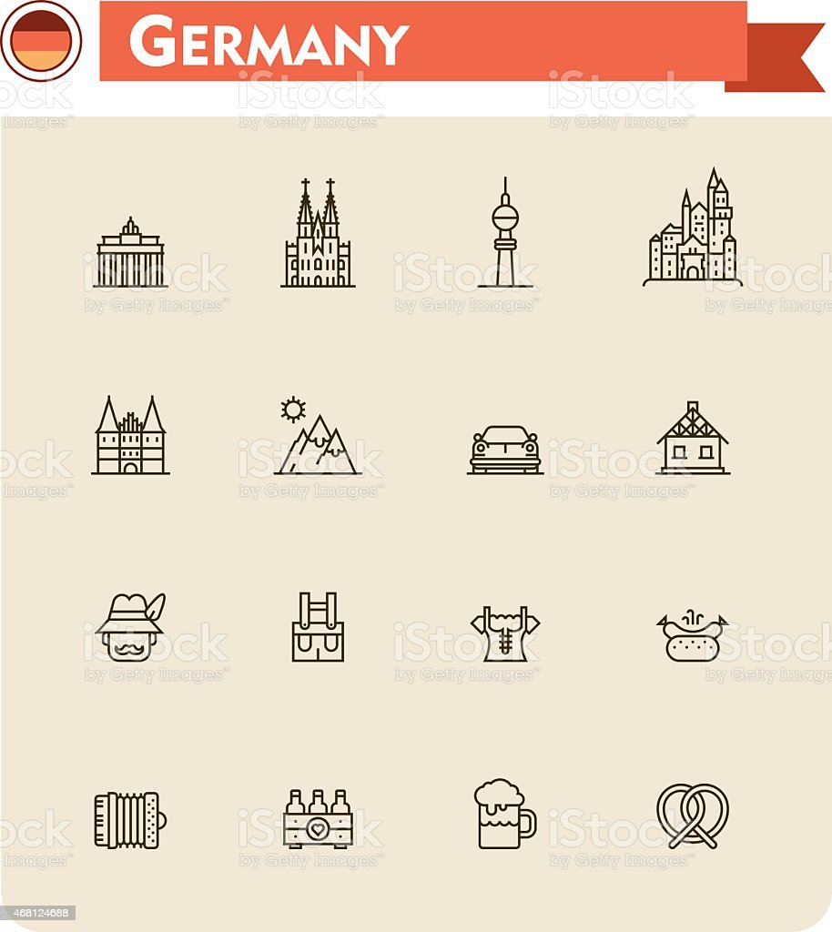 Deutschland-icon-set – Vektorgrafik