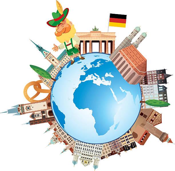 bildbanksillustrationer, clip art samt tecknat material och ikoner med germany travels - germany map leipzig