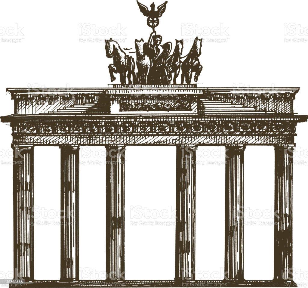 Deutschland-template. Architektur, design oder Reisen Sie Symbol – Vektorgrafik