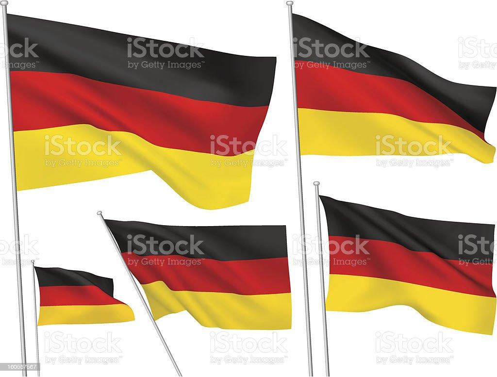 Deutschland Vektor-Flaggen – Vektorgrafik