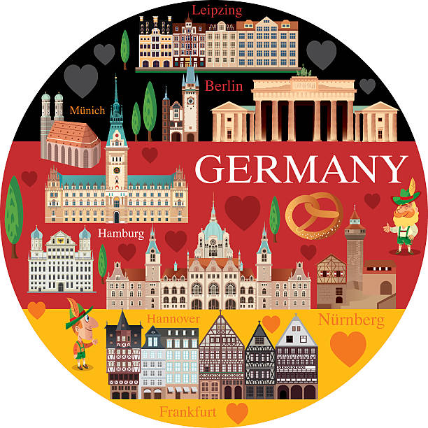 Germany Vector Germany lachen stock illustrations