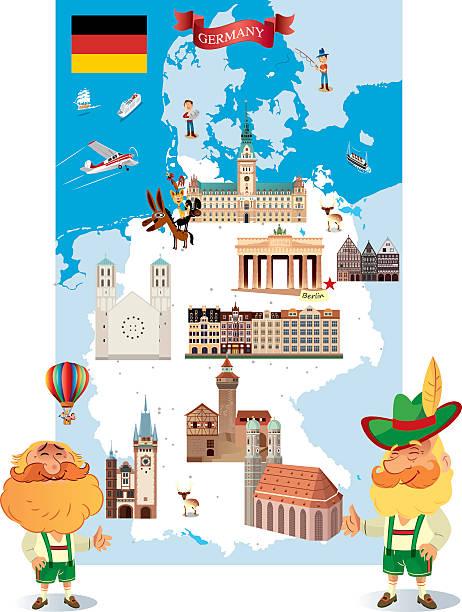 bildbanksillustrationer, clip art samt tecknat material och ikoner med germany - germany map leipzig