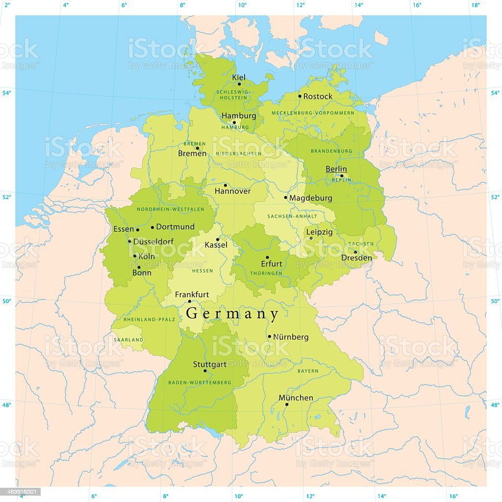 Germany Vector Map royalty-free stock vector art
