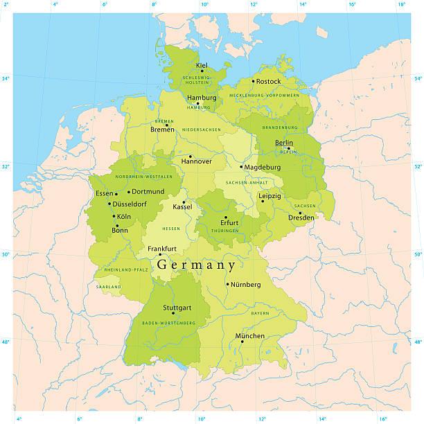 Alemania Vector Map - ilustración de arte vectorial
