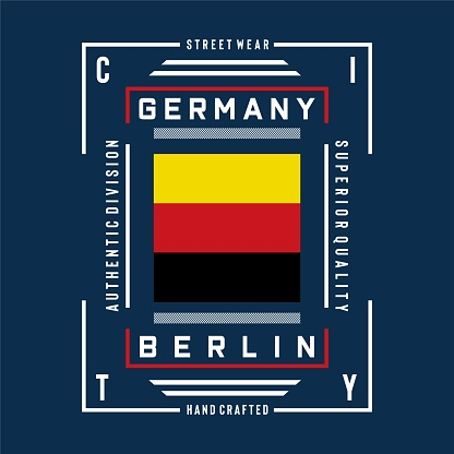 germany,berlin images typography vector illustration for t shirt.