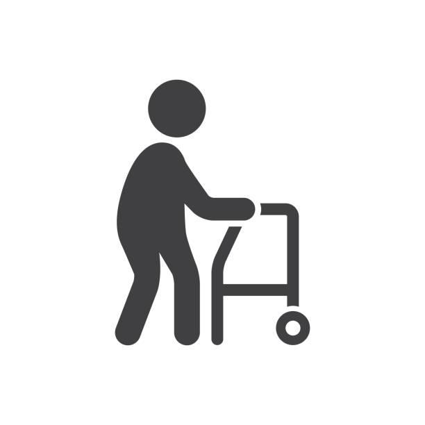 老人のアイコン - 老年医学点のイラスト素材/クリップアート素材/マンガ素材/アイコン素材