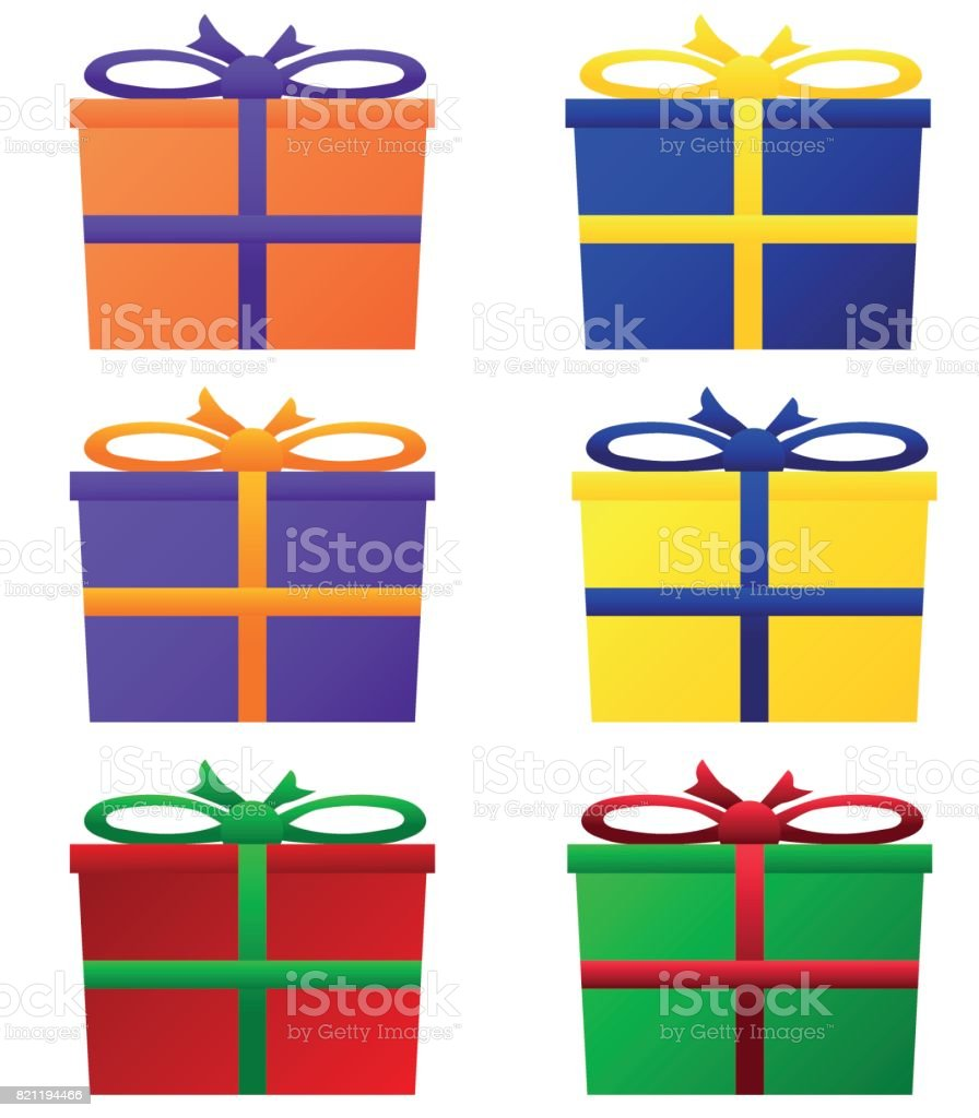 Geschenkpakete in bunten Farben vector art illustration