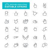 Gesture Editable Stroke Icons