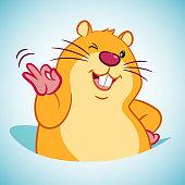 Illustrationen föreställer en hamster