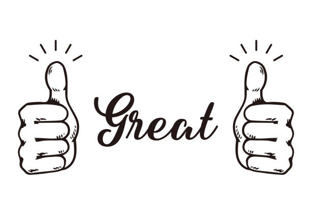 gesture hand great sign vector illustration. gesture hand great sign vector illustration. good news stock illustrations