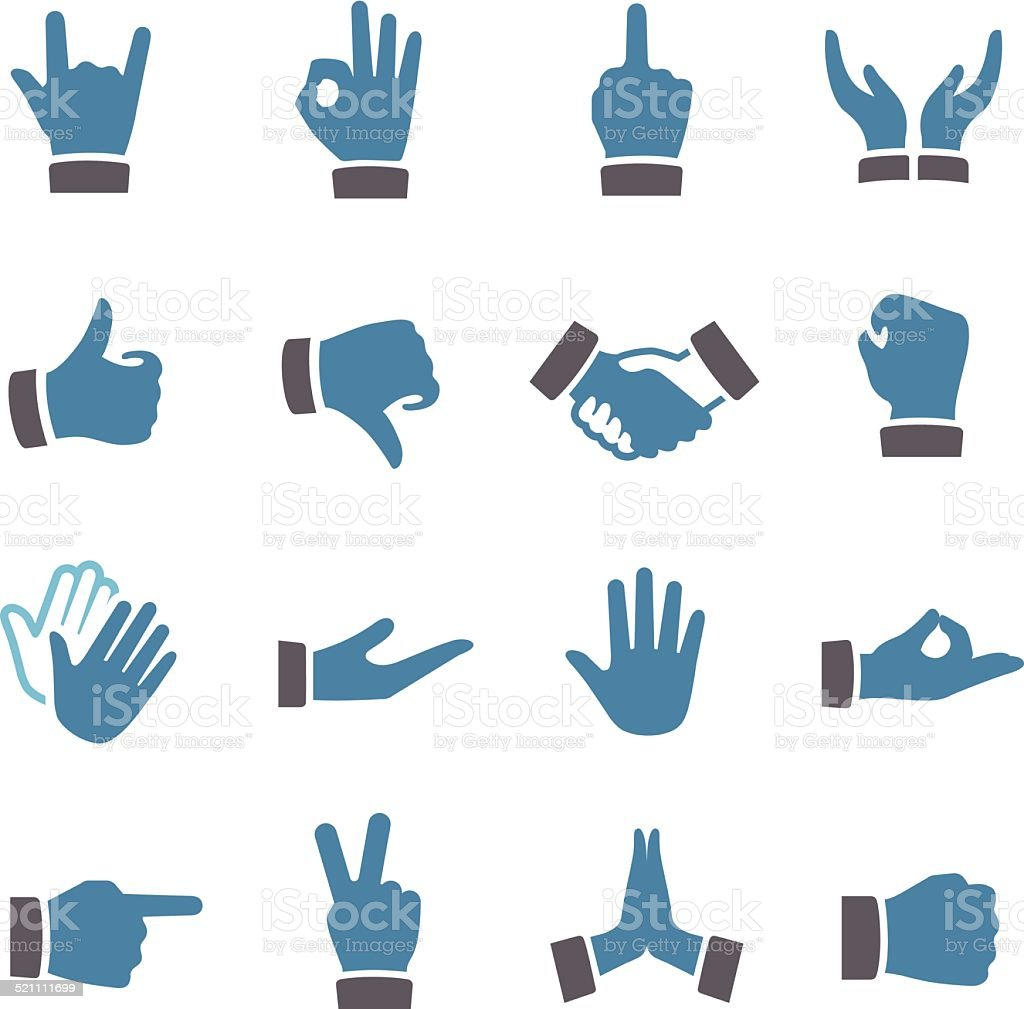 Gesture Icons - Conc Series vector art illustration