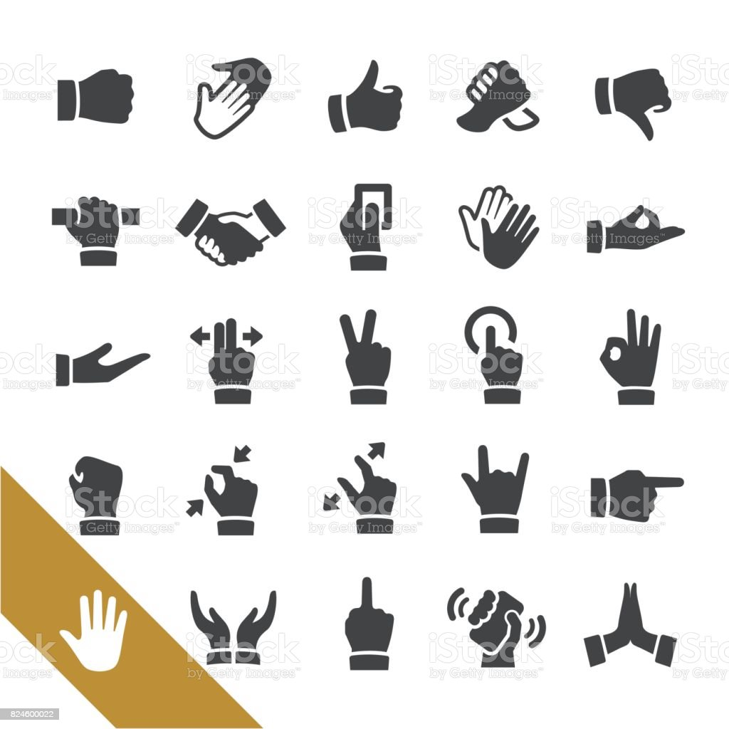 Gesture Icons - Select Series vector art illustration