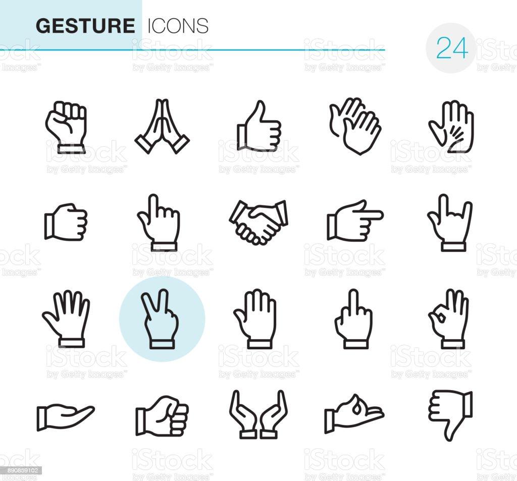 Gebaar - Pixel Perfect iconen - Royalty-free Aanraken vectorkunst