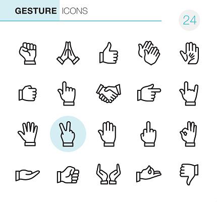 Gebaar Pixel Perfect Iconen Stockvectorkunst en meer beelden van Aanraken