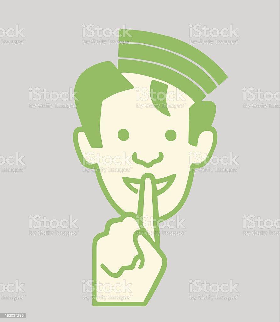 Gesture to be quiet stock vector art more images of cap gesture to be quiet royalty free gesture to be quiet stock vector art amp buycottarizona