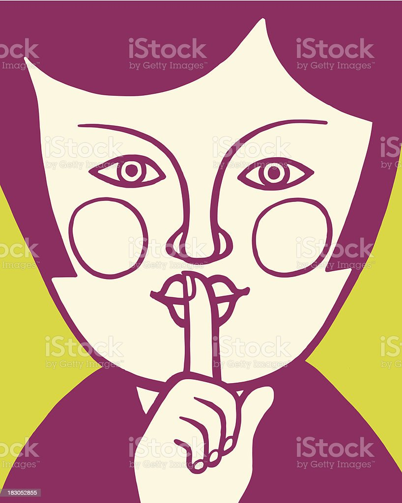 Gesture to Be Quiet royalty-free stock vector art