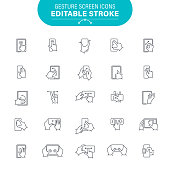 Thumbs Up, Gesturing, Hand Sign, Smartphone Editable Icon Set