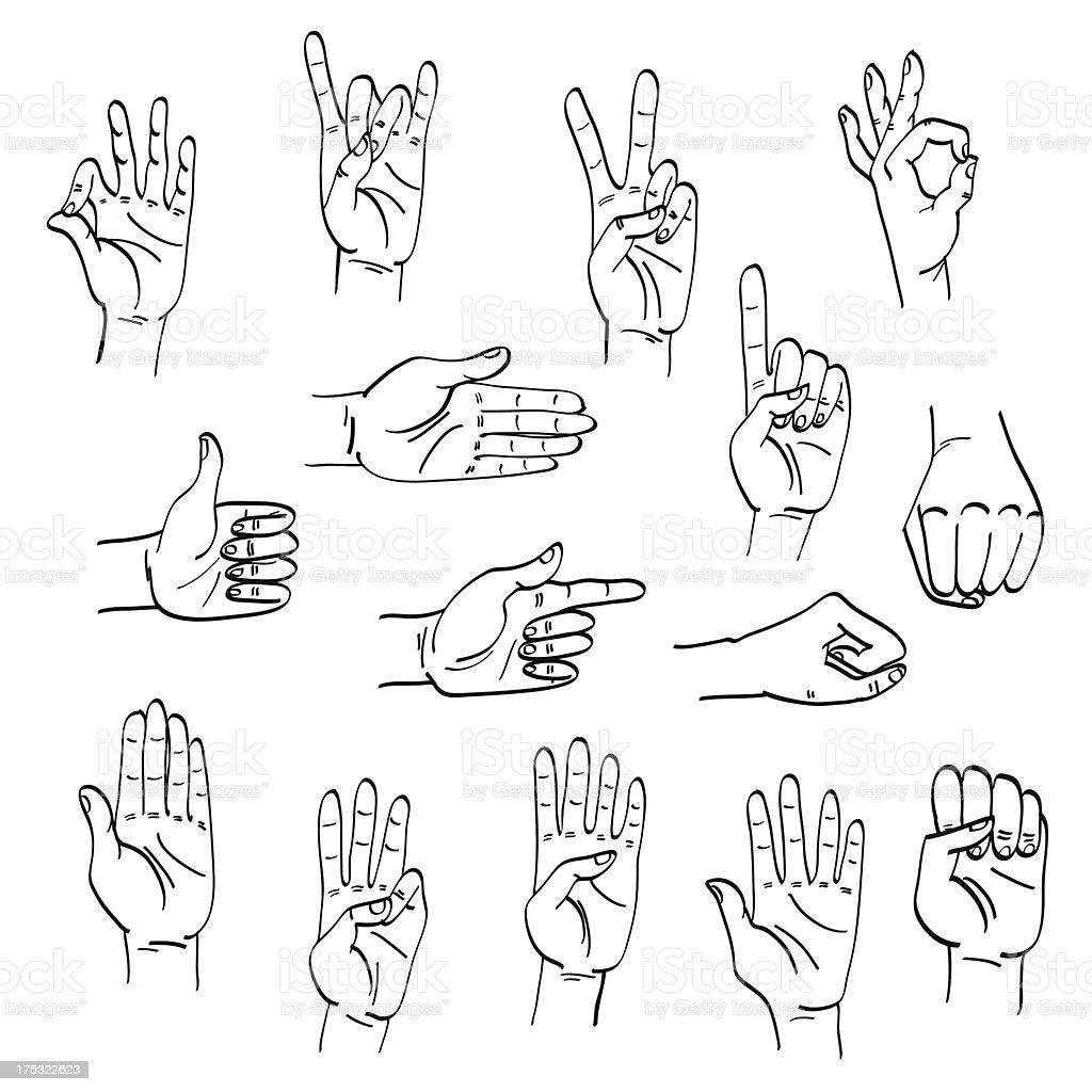 gestures/жесты royalty-free stock vector art