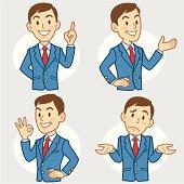Gesturing Businessmen