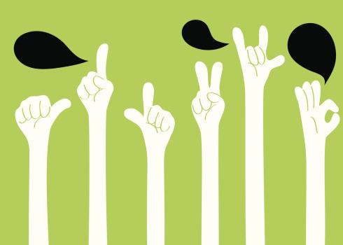 Gesturing(Hand Sign): I love you, ok, good, one, two, YA!
