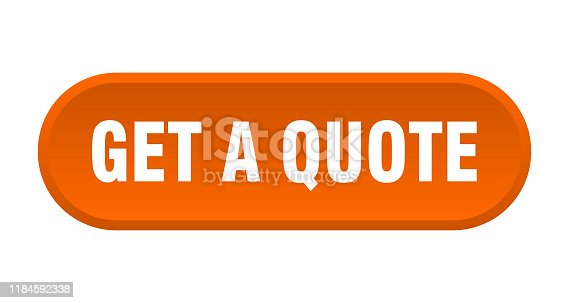 get a quote button. get a quote rounded orange sign. get a quote