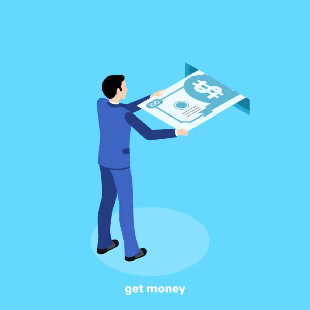 get money 6 vector art illustration