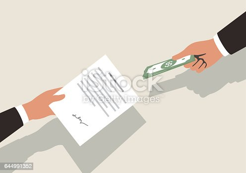 istock Get money for contrac, vector illustration 644991352