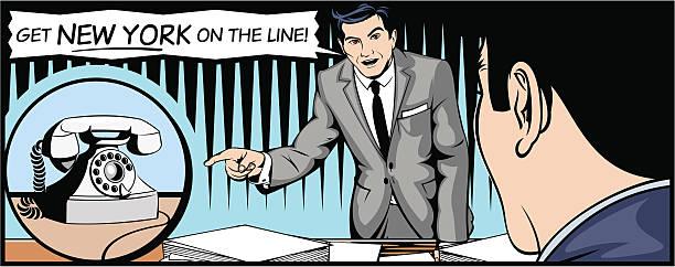 Get New York on the Line! vector art illustration