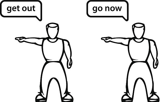 get out and go now - old man crying clip art stock illustrations, clip art, cartoons, & icons