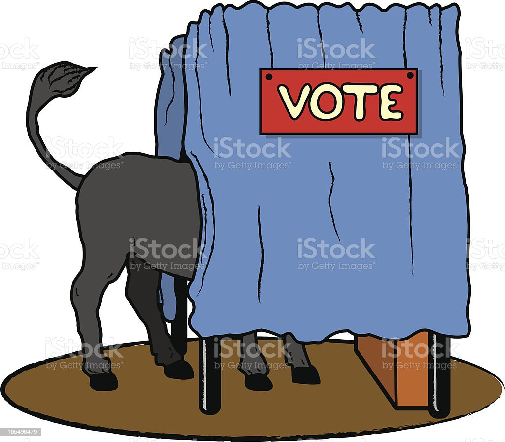 Get Out The Democrat Vote royalty-free stock vector art