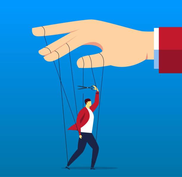get rid of control - marionetka stock illustrations