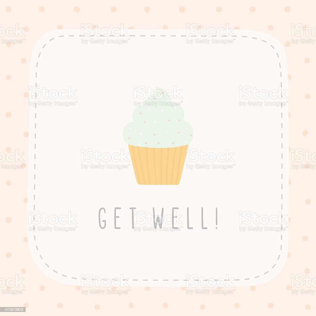 Get Well Greeting Card Stock Vector Art More Images Of