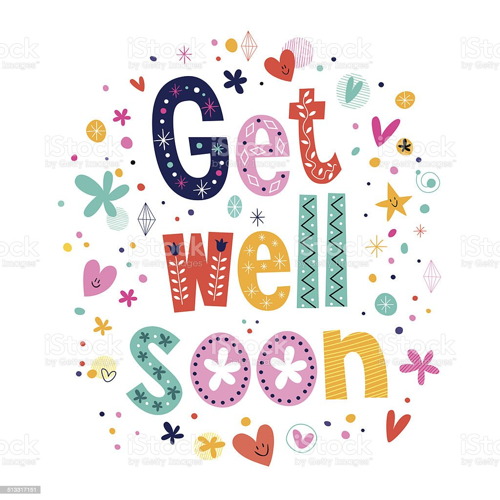 Get Well Soon Greeting Card Stock Vector Art More Images Of Care
