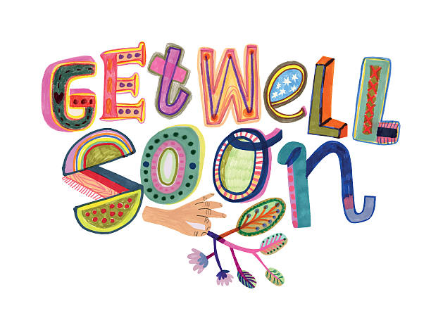 get well soon message - get well soon stock illustrations, clip art, cartoons, & icons