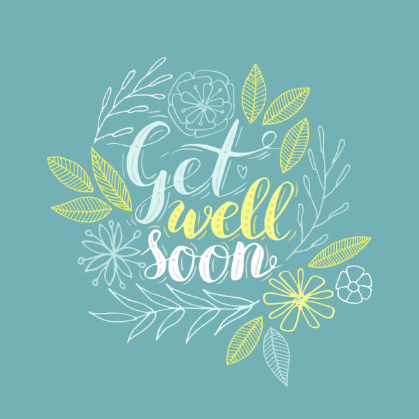 get well soon. - get well soon stock illustrations, clip art, cartoons, & icons