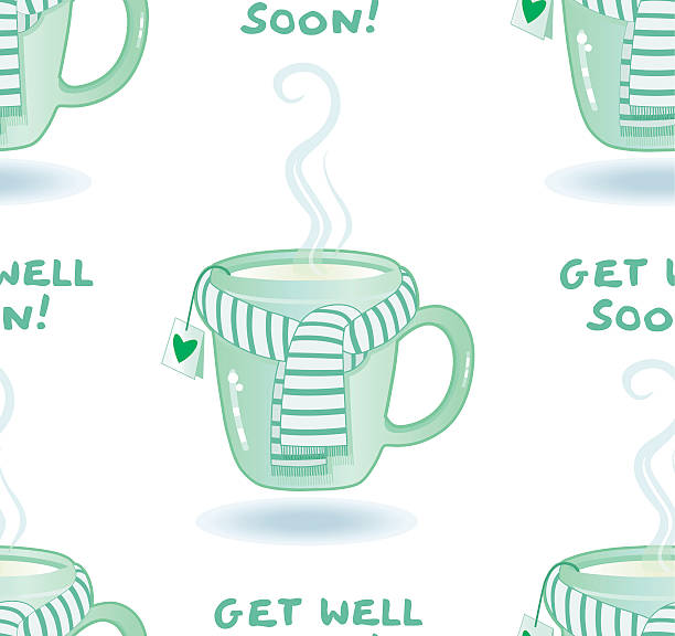 get well soon ! (seamless pattern) - get well soon stock illustrations, clip art, cartoons, & icons