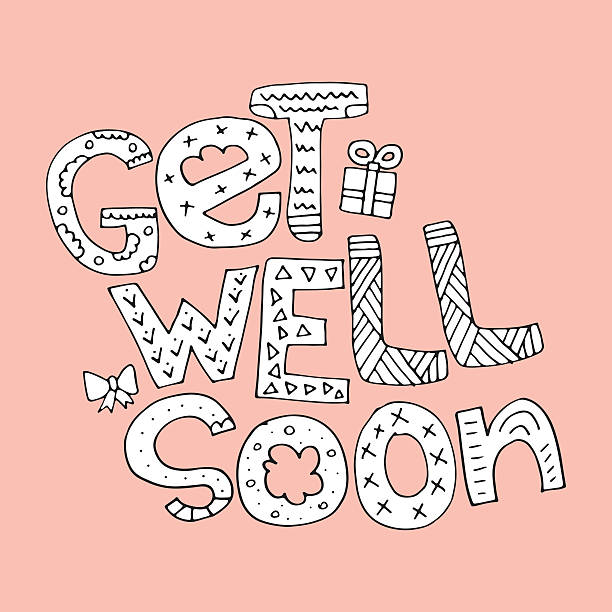 get well soon - get well soon stock illustrations, clip art, cartoons, & icons