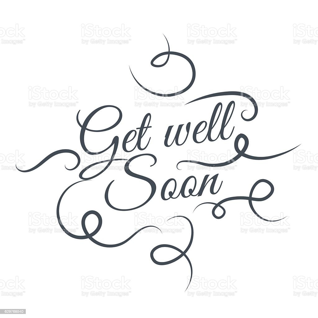 Get Well Soon Vector Text Background Creative Color Pattern Stock ...