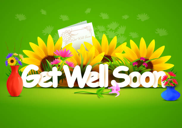 get well soon wallpaper background - get well soon stock illustrations, clip art, cartoons, & icons