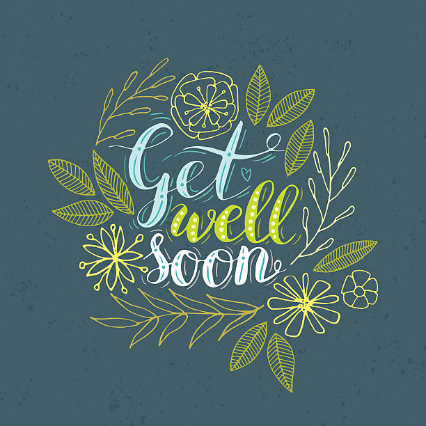 get well. - get well soon stock illustrations, clip art, cartoons, & icons