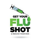 istock Get Your Flu Shot, Injecting Flu Vaccine stock illustration 1276387277