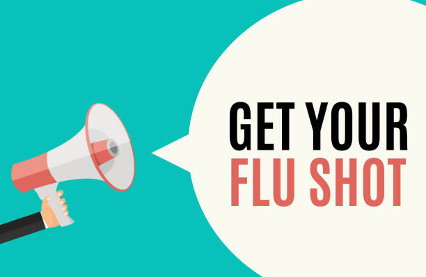 Get Your Flu Shot Vaccination concept flat background. Vector Illustration Get Your Flu Shot Vaccination concept flat background. Vector Illustration EPS10 flu vaccine stock illustrations