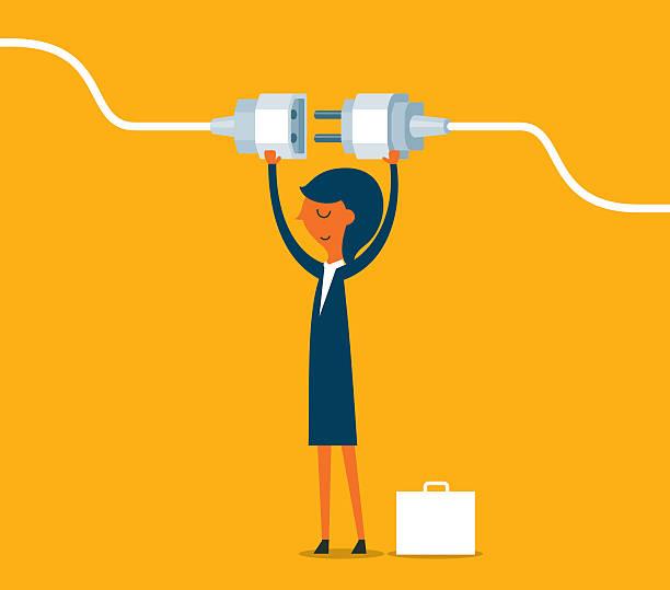 illustrations, cliparts, dessins animés et icônes de se branché - rallonge électrique