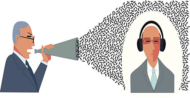 getting the message across - communication problems stock illustrations, clip art, cartoons, & icons