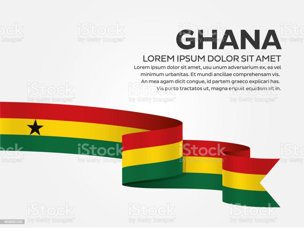 Fondo de bandera de Ghana - ilustración de arte vectorial