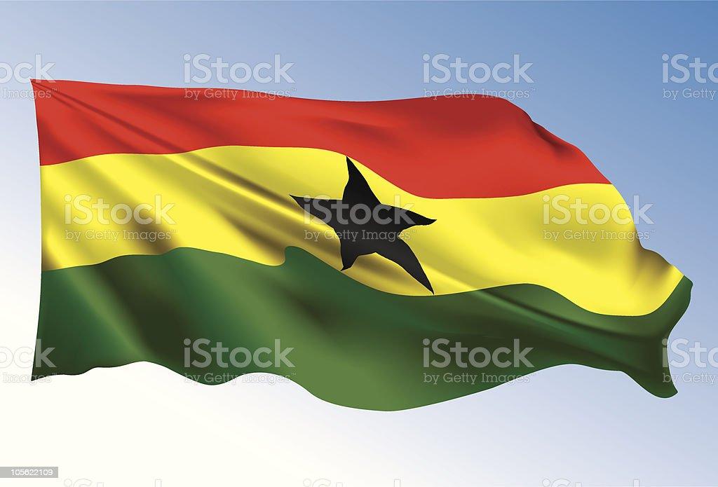 Bandera de Ghana - ilustración de arte vectorial