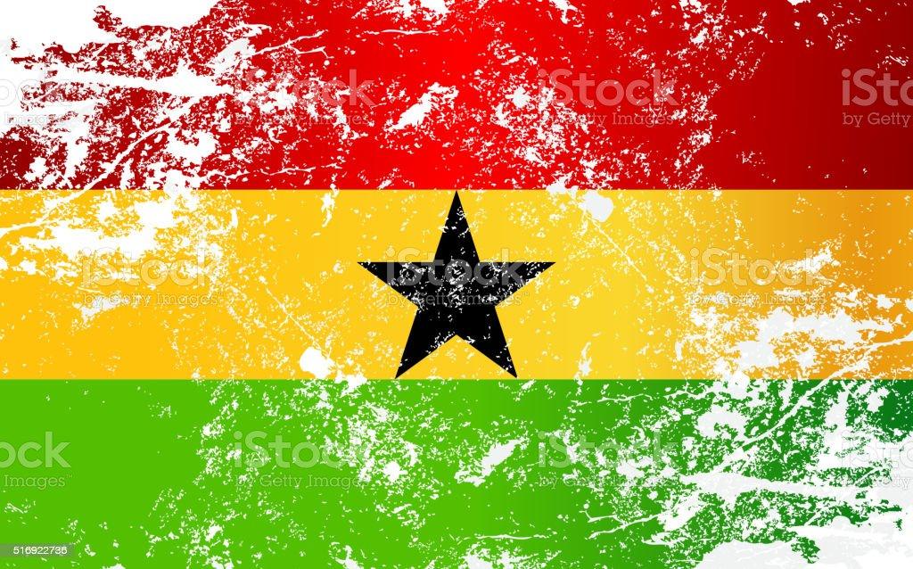 Textura Grunge de bandera de Ghana - ilustración de arte vectorial