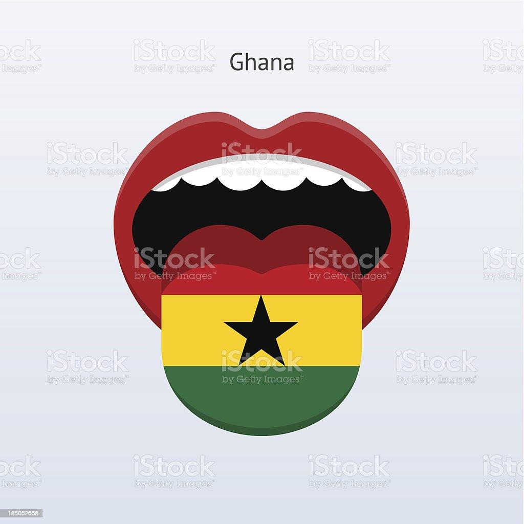 Ghana language. Abstract human tongue. royalty-free stock vector art